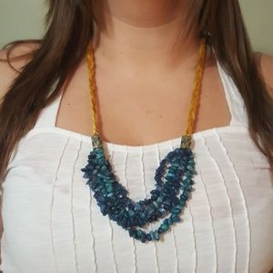 Jewelry - Hand beaded and braided necklace